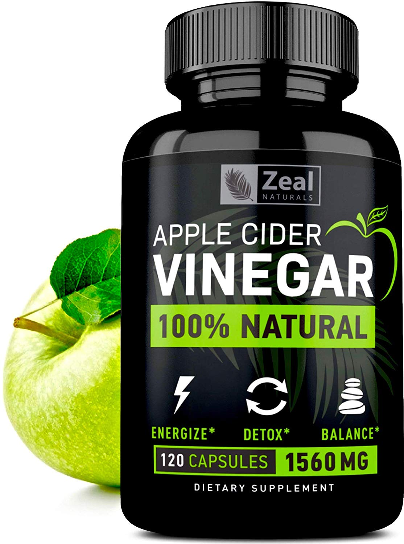 Natural Raw Apple Cider Vinegar Pills (120 Caps)